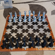 Picture of print of Faceted Chess Set