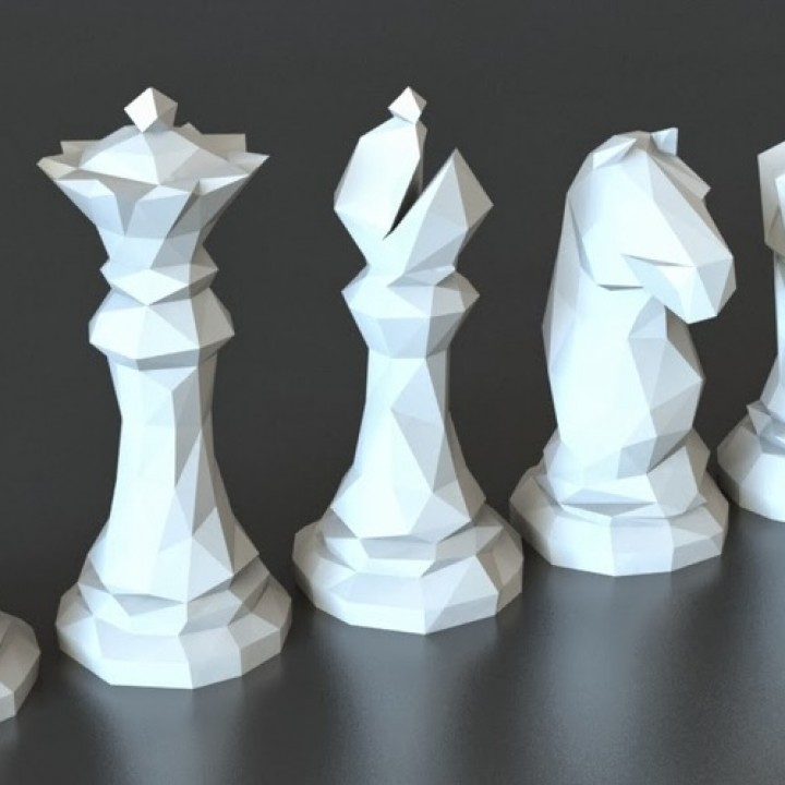 Faceted Chess Set