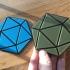 "Icosahedron coaster ""Icoasterheadron"" image"