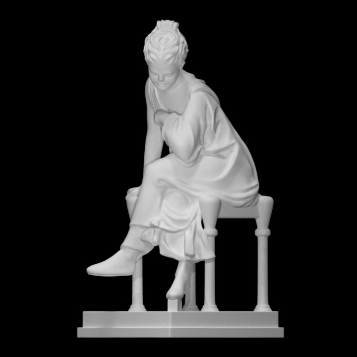 Statue of a Seated Maiden