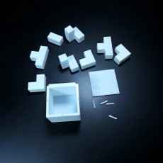 Puzzle Cube with TinkerCad Case and Lid