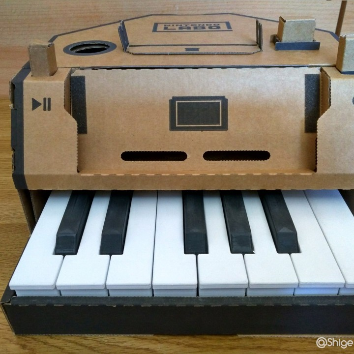 picture about Piano Keyboard Printable named 3D Printable Nintendo labo piano keys enhancements via Louis