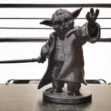 Picture of print of Yoda Bookend