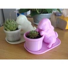 Easter Bunny Planter (pot with base) -BD Homemaker
