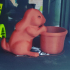 Easter Bunny Planter (pot with base) -BD Homemaker print image