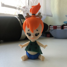 Picture of print of Pebbles Flintstone