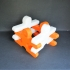 3D man puzzle image