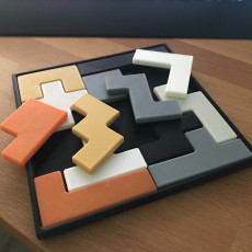 Picture of print of Pentomino (Tetris) Puzzle by Henry Dudeney
