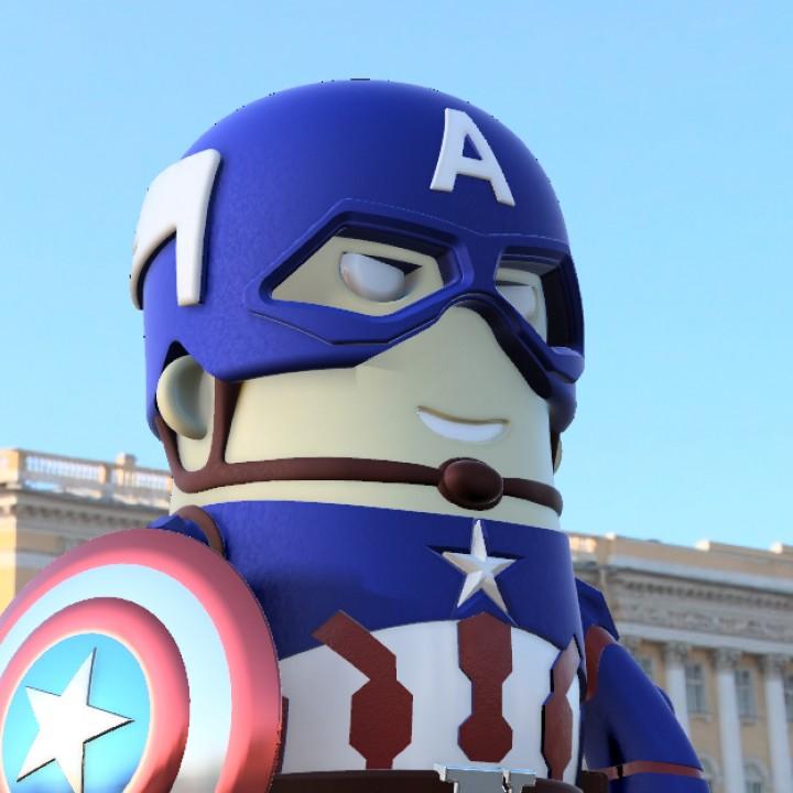 mini Captain America - Civil war edition