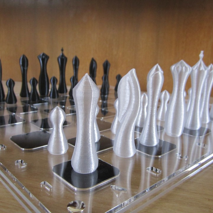 2h vase mode - sequential printing - Chess Set!