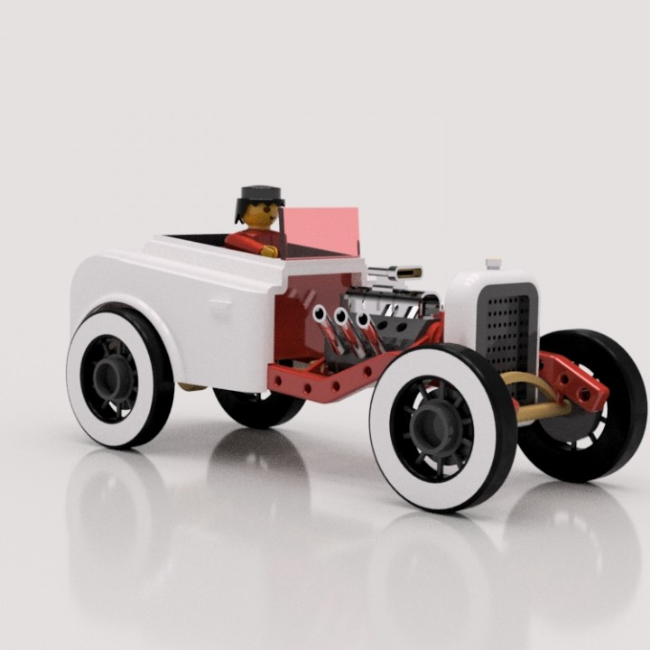 Playmobil: 1932 Hot Rod Chassis (WIP)