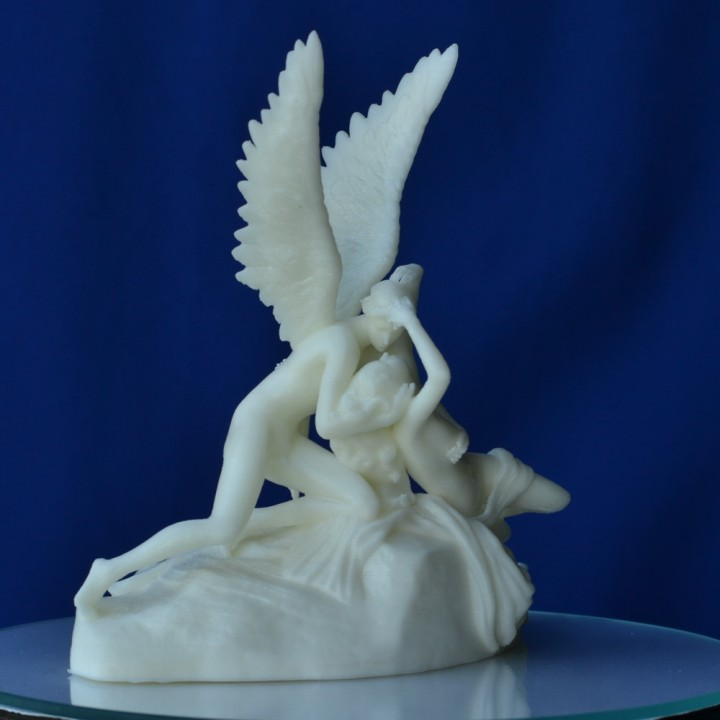 Psyche Revived by Cupid's Kiss at The Louvre, Paris (remix)