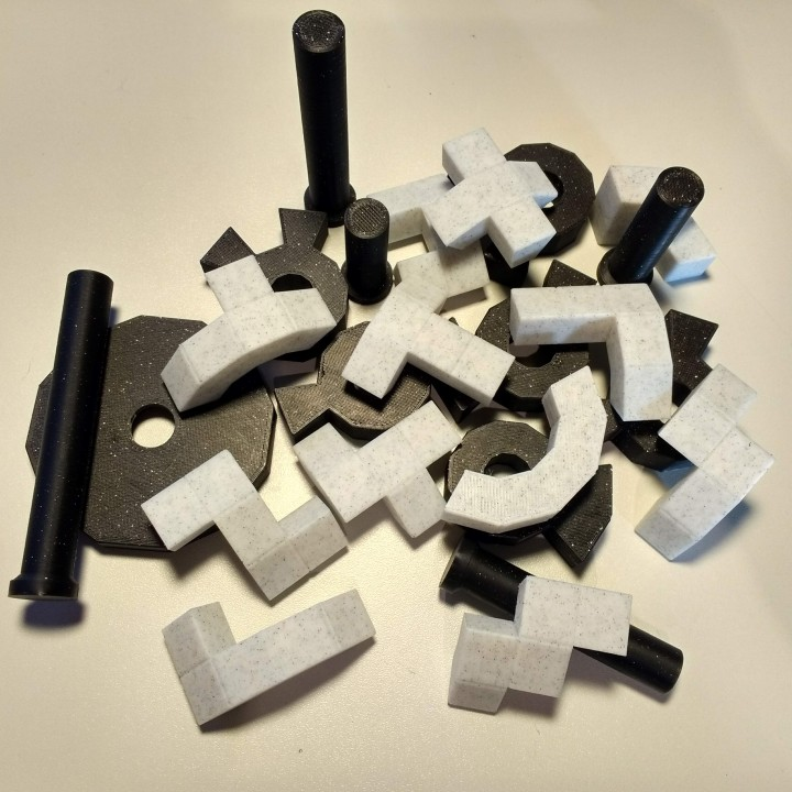 pentododekagon extendable puzzle with calculator