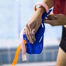 3D printed orthotic swimming fin