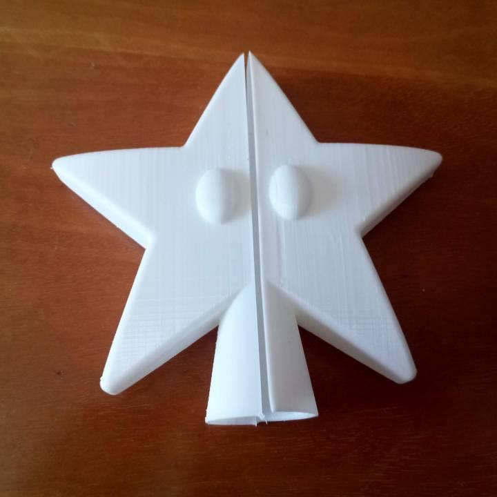 Mario Power Star Christmas Tree Topper