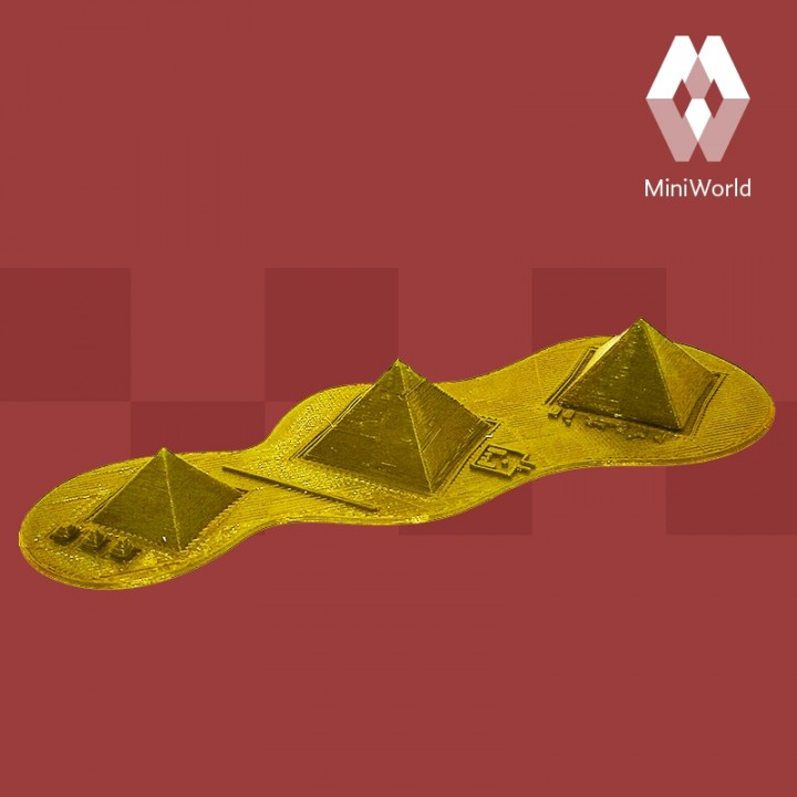 picture about Printable Pyramid identify 3D Printable Pyramids of Giza - Egypt via MiniWorld 3D