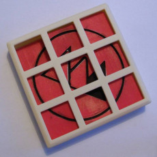 Picture of print of 2 layers sliding puzzle