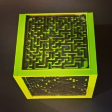 Picture of print of Ball maze cube