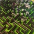 Ball maze cube print image