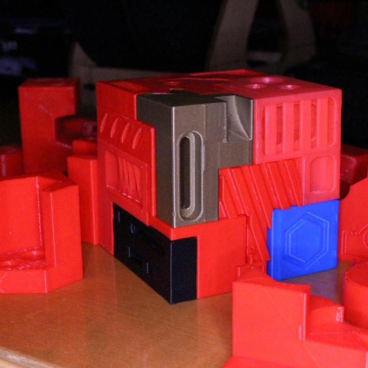Alien Fortress Puzzle Cube