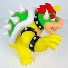 Picture of print of Bowser from Mario games - Multi-color