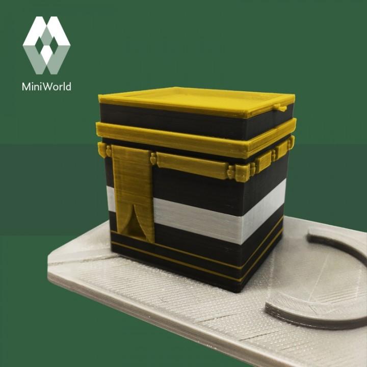 3D Printable Al Kaaba - Saudi Arabia by MiniWorld 3D