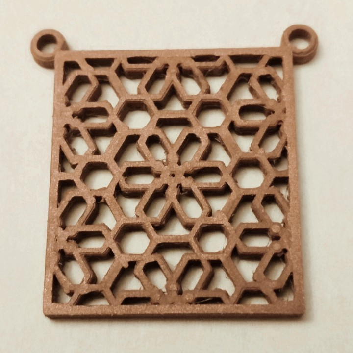 Moroccan-Style Geometric Pattern Pendant