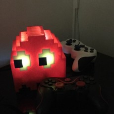 A Pacman Ghost shaped case for a Raspberry Pi 3B