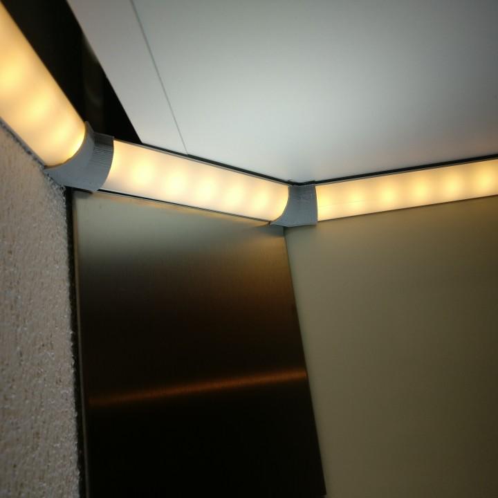 135° connector of V-shaped LED aluminum profile