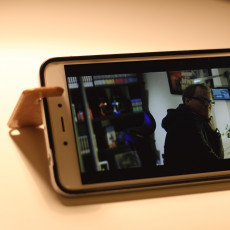 Picture of print of Keyring phone stand