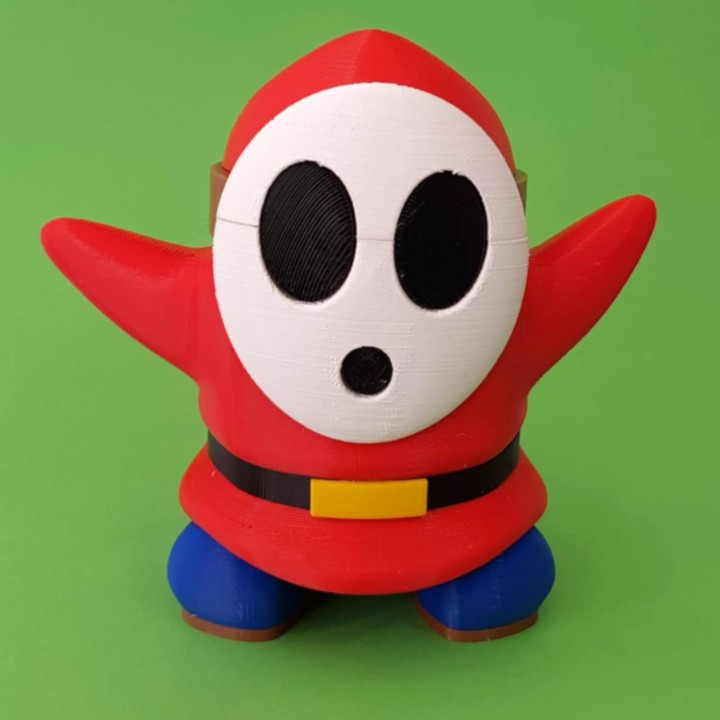 3D Printable Shy Guy from Mario