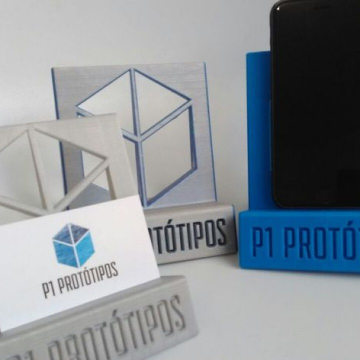 3d printable p1 phone business card stand by p1 prottipos p1 phone business card stand image colourmoves