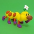 Wiggler from Mario games - multi-color image