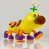Wiggler from Mario games - multi-color print image