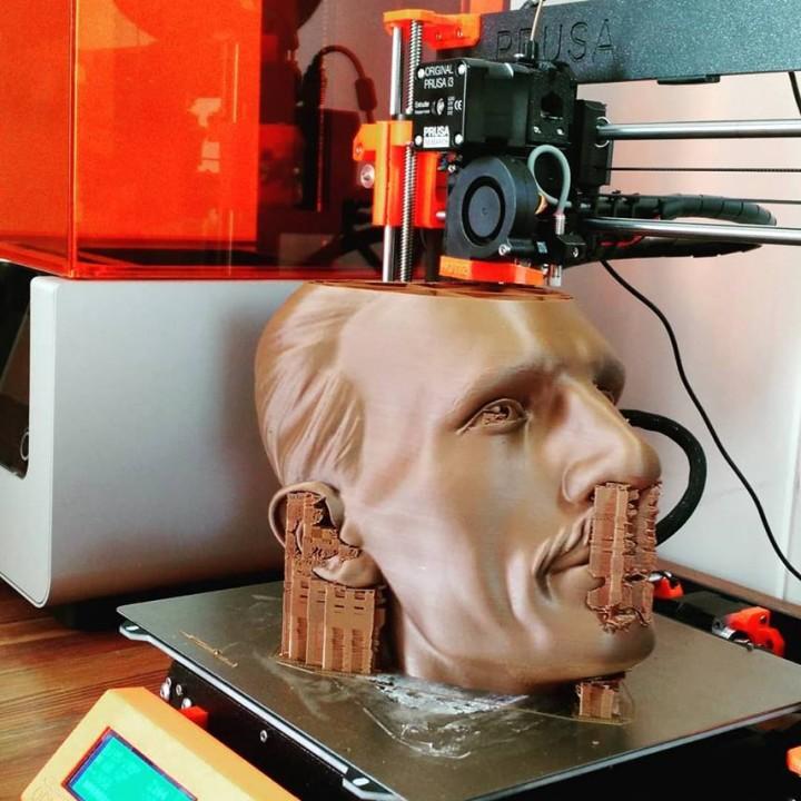 Nikola Tesla Bust 300mm Remix