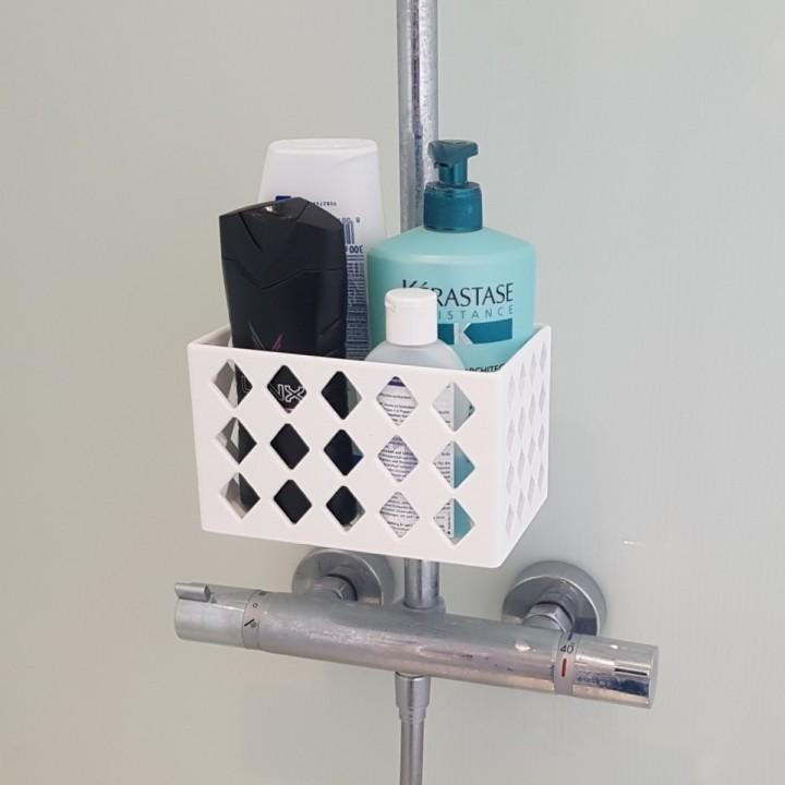 3D Printable shampoo holder for shower by Matthäus