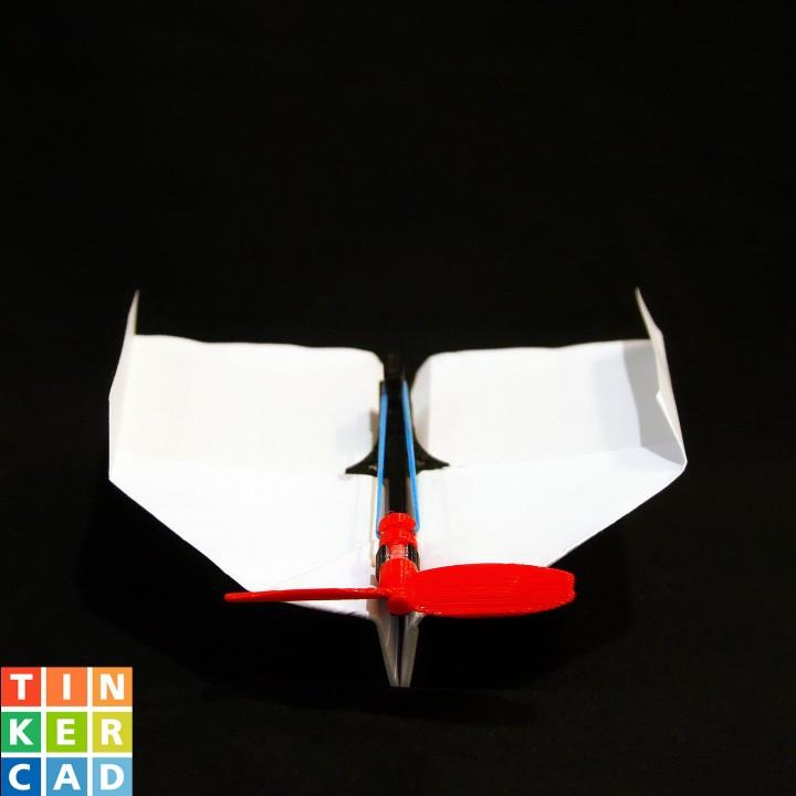 Rubber Band Powered Plane #TINKERFUN