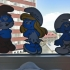 Multi color Smurfs image