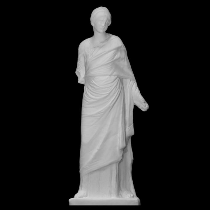 Female statue wearing a chiton