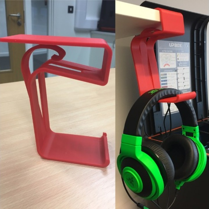 HEADPHONE STAND FOR A DESK OR SHELF