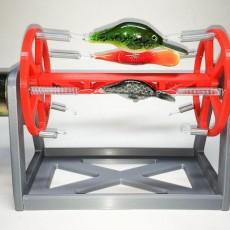 Rotating Fishing Lure Drying Rack