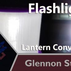 Turning a Flashlight into Lantern
