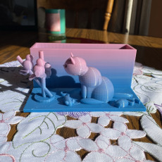 Picture of print of Cat pen holder