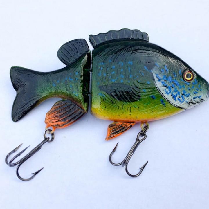 3D Printable Realistic Sunfish Jointed Swimbait Fishing Lure