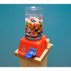 The Coin Slide Operated Jelly Bean Machine