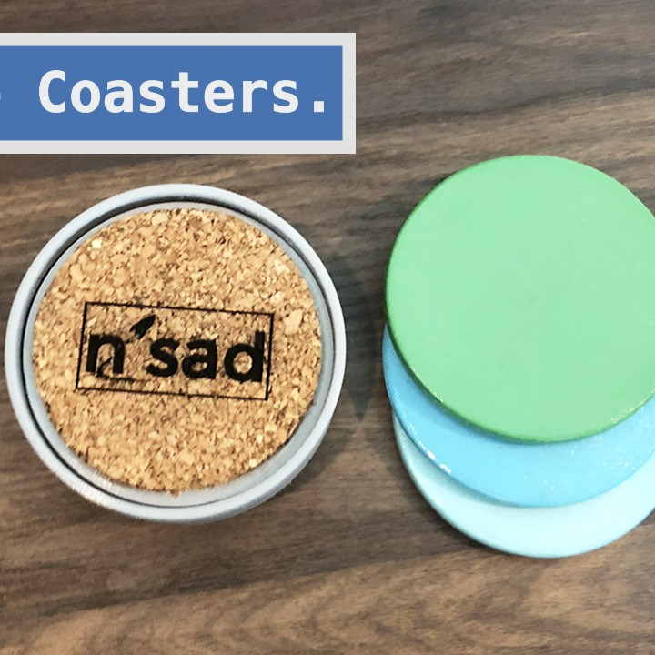 D Printable Coaster With Cork Bottom By Paul Williams - Cork coaster bottoms