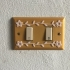 Switch plate with flowers - Bicolor Design image