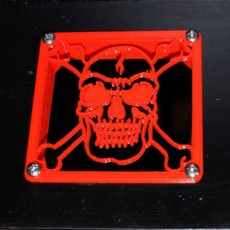 80mm Fan Skull Grill and Intake Flange