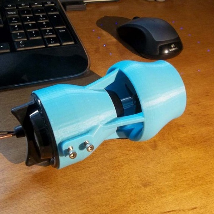 3D Printable ROV Kort Nozzle for Bilge Pump Thruster w