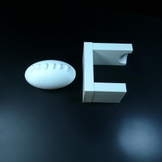Picture of print of football with stand#tinkerfun